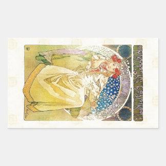 Adesivo Retangular Alfons Mucha Princezna 1911 Hyacinta