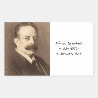 Adesivo Retangular Alfred Grunfeld