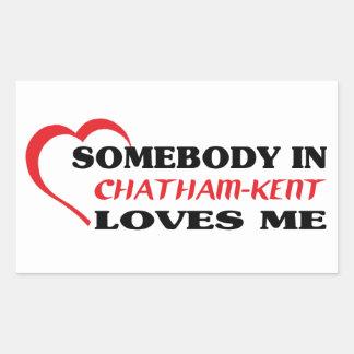 Adesivo Retangular Alguém em Chatham-Kent ama-me