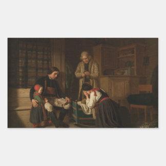 Adesivo Retangular Amalia Lindegren - a última cama do pouco uma