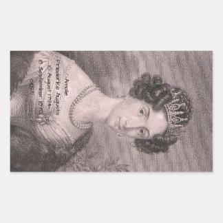 Adesivo Retangular Amalie Friederike Augusta c1825
