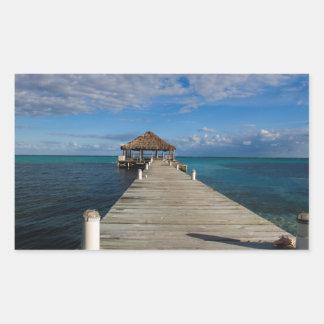 Adesivo Retangular Ambergris Caye Belize