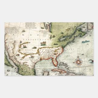 Adesivo Retangular América 1610