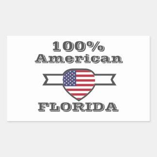 Adesivo Retangular Americano de 100%, Florida