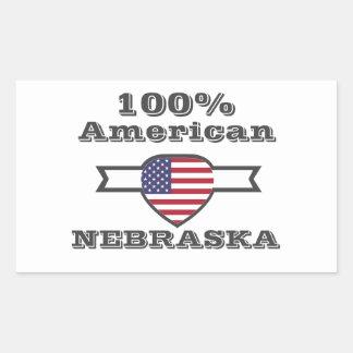 Adesivo Retangular Americano de 100%, Nebraska