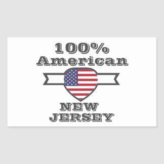Adesivo Retangular Americano de 100%, New-jersey