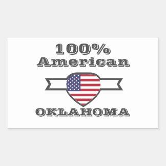 Adesivo Retangular Americano de 100%, Oklahoma