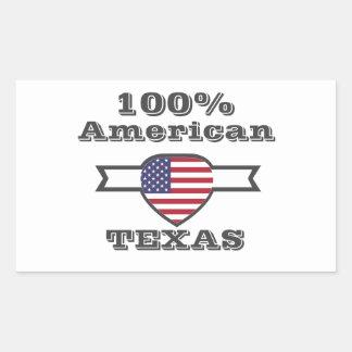 Adesivo Retangular Americano de 100%, Texas