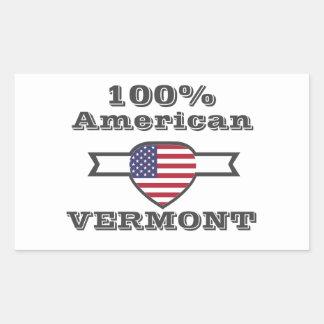 Adesivo Retangular Americano de 100%, Vermont