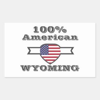 Adesivo Retangular Americano de 100%, Wyoming