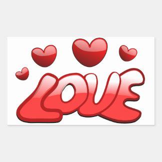Adesivo Retangular Amor