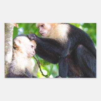 Adesivo Retangular Amor do macaco