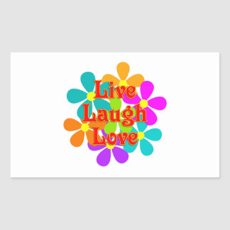 Adesivo Retangular Amor vivo do riso do divertimento