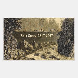 Adesivo Retangular Anos bicentenários históricos do canal de Erie