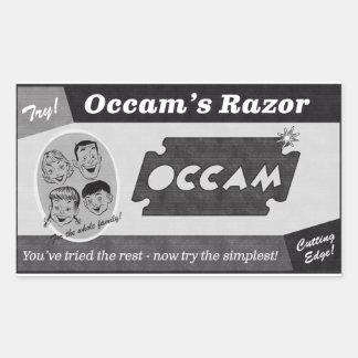 Adesivo Retangular Anúncio do vintage da lâmina de Occam