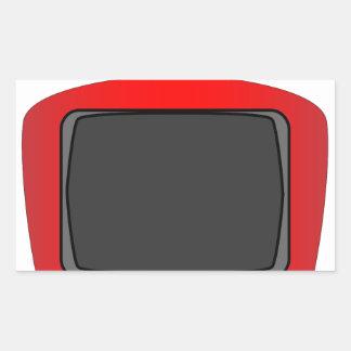 Adesivo Retangular Aparelho de televisão velho