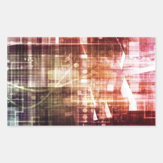 Adesivo Retangular Aparência de Digitas com arte de transferência da