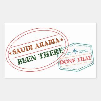 Adesivo Retangular Arábia Saudita feito lá isso