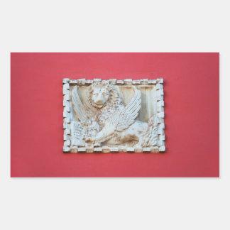 Adesivo Retangular Archite voado Venetian da chapa do leão de Rovinj