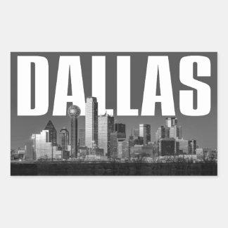 Adesivo Retangular Arquitectura da cidade de Dallas