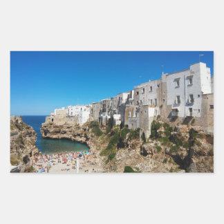 Adesivo Retangular Arquiteto do marco da praia de Bari Italia da égua