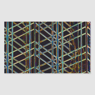 Adesivo Retangular Arquitetura abstrata
