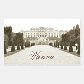 Adesivo Retangular Arquitetura em Viena, Áustria