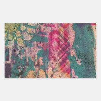 Adesivo Retangular Arte abstracta colorida 1