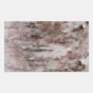 Adesivo Retangular arte branca escamoso do latido
