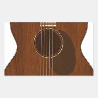 Adesivo Retangular Arte da guitarra acústica