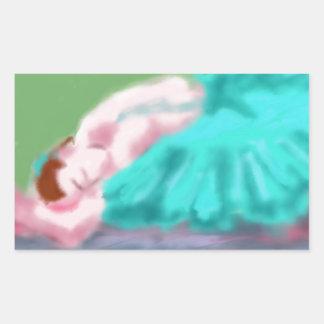 Adesivo Retangular Arte de descanso do balé