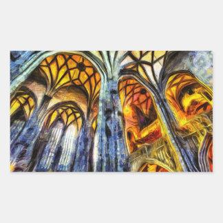 Adesivo Retangular Arte de Viena da catedral de Stephens da rua