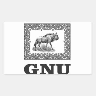 Adesivo Retangular Arte do poder do Gnu