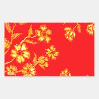 Adesivo Retangular Arte dourada 3 de Sakura