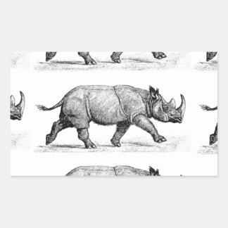 Adesivo Retangular Arte Running dos Rhinos