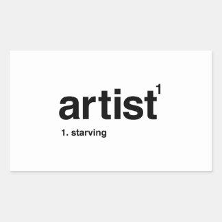 Adesivo Retangular artista