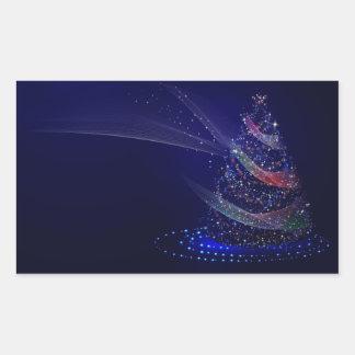 Adesivo Retangular Árvore azul bonita