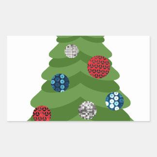 Adesivo Retangular árvore de Natal do emoji