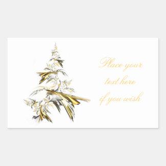 Adesivo Retangular Árvore de Natal no branco 001