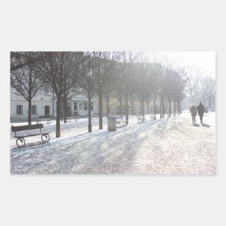 Adesivo Retangular Árvore do inverno em Praga (república checa)