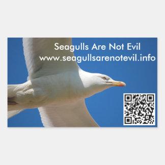 Adesivo Retangular As gaivotas não são #1 maus