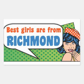 Adesivo Retangular As melhores meninas são de Richmond