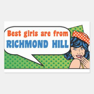 Adesivo Retangular As melhores meninas são do monte de Richmond