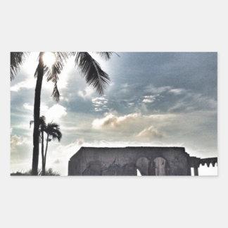 Adesivo Retangular As ruínas na ilha de Bantayan