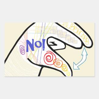 Adesivo Retangular ASL oh NENHUM