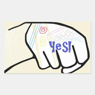 Adesivo Retangular ASL oh SIM