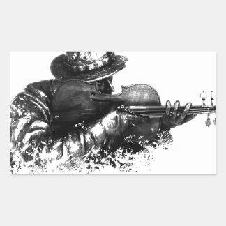 Adesivo Retangular atirador furtivo do violino