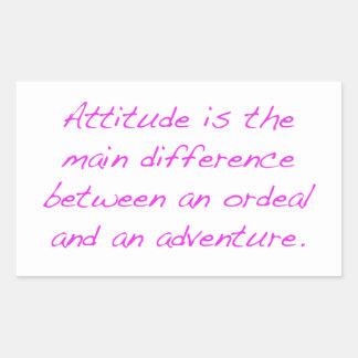 Adesivo Retangular Atitude - calvário ou aventura