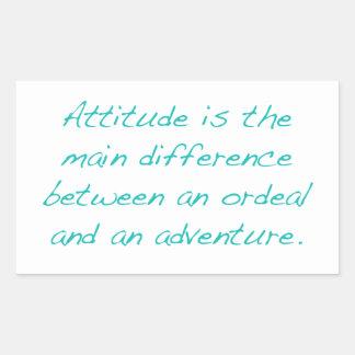 Adesivo Retangular Atitude -- calvário ou aventura (verde)