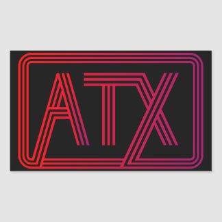 Adesivo Retangular ATX estranho